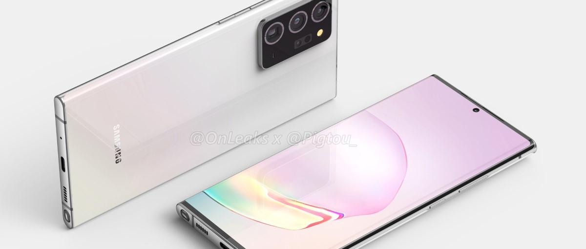 El futuro Samsung Galaxy Note 20 se filtra, mostrando unos marcos mínimos y un prominente módulo de cámara