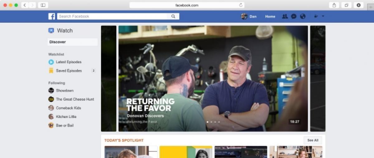Facebook lanza Watch, su propia plataforma de vídeo online