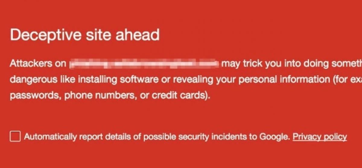 Google avisará a los usuarios de la inclusión de botones y avisos falsos en las webs