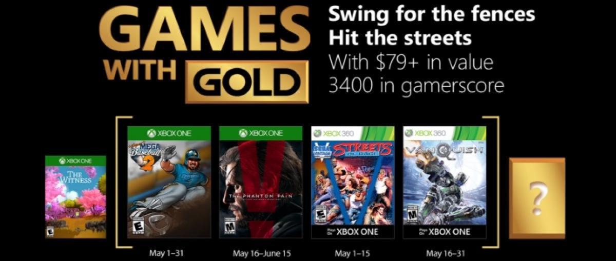 Metal Gear Solid V y Vanquish despuntan entre los Juegos con Gold de mayo