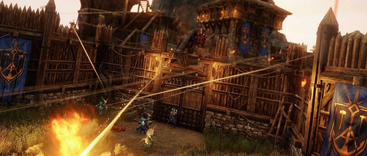 New World muestra el primer gameplay del modo Guerra, donde se enfrentan dos equipos de 50 jugadores
