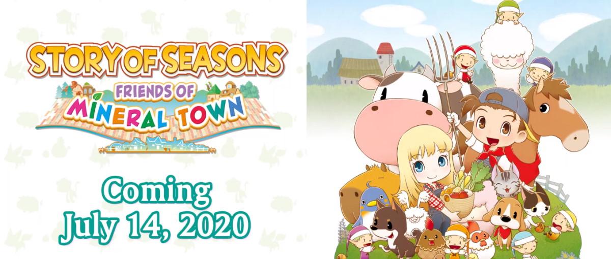 El remake de Story of Seasons: Friends of Mineral Town anunciado para PC y disponible el 14 de julio