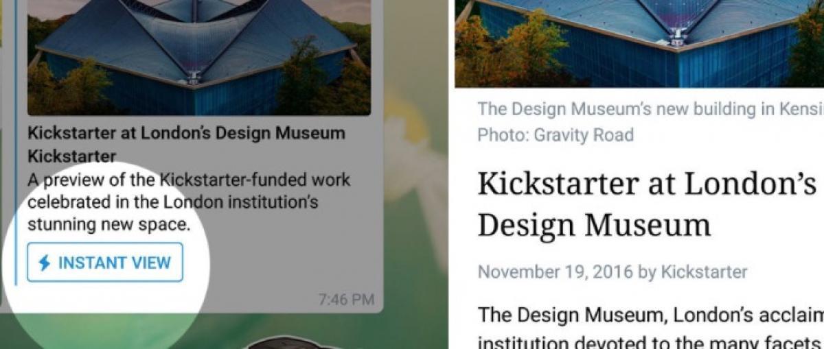 Telegram lanza Telegraph, una nueva herramienta para publicar artículos sin registrarse