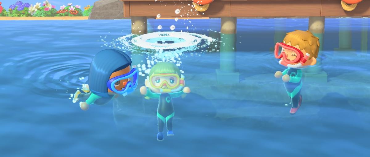 Animal Crossing: New Horizons recibe la actualización de verano que permite nadar y bucear