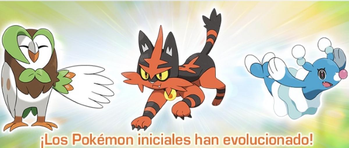 Pokémon Sol y Luna muestra las evoluciones de los pokémon iniciales y anuncia una próxima demo