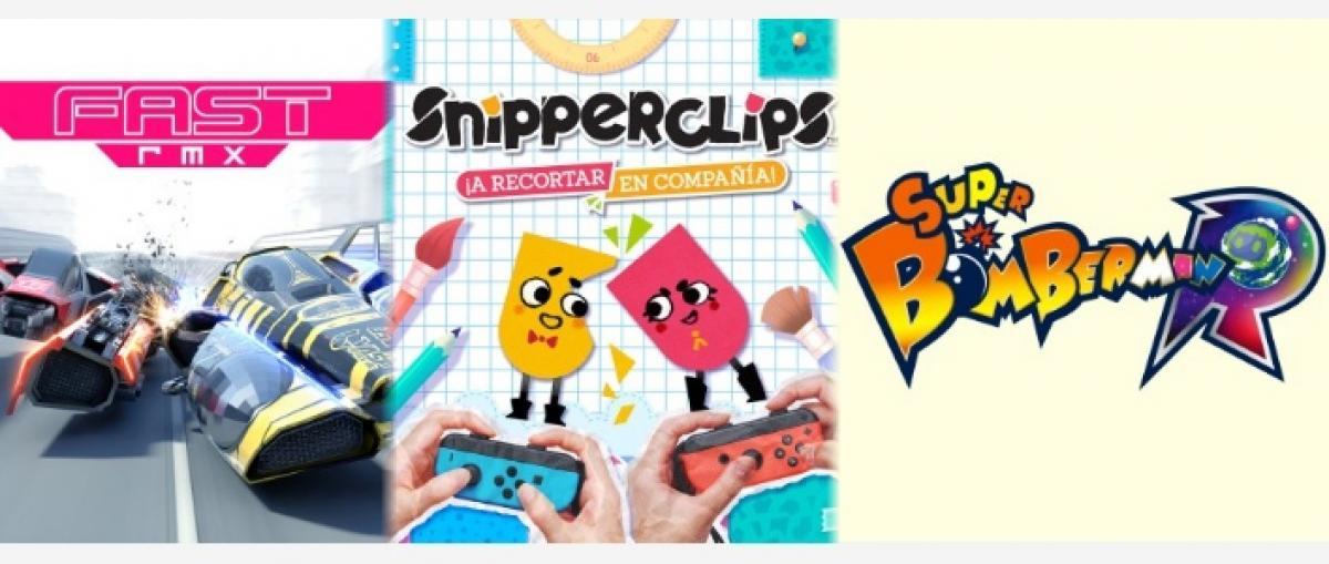 Vídeos de lanzamiento de Fast RMX, Snipperclips y Super Bomberman R para Nintendo Switch