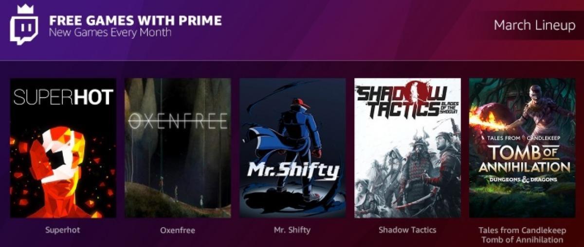 Twitch Prime ofrecerá varios juegos gratuitos cada mes con Games with Prime