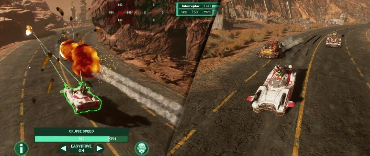 Demostración de Dark Future: Blood Red States, un juego de estrategia y combate sobre vehículos