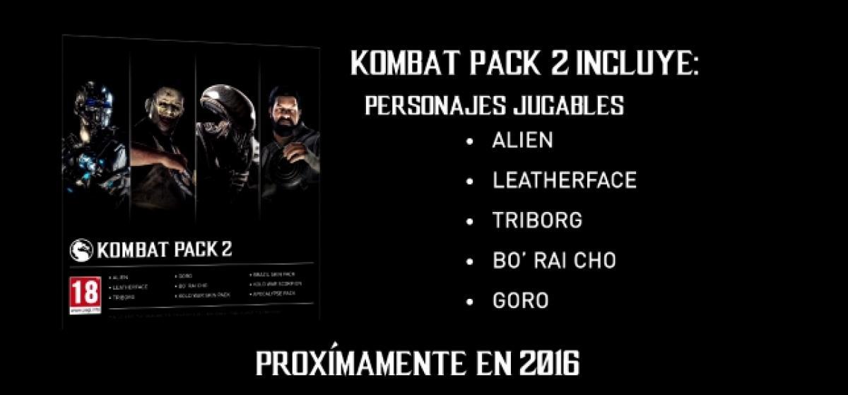Mortal Kombat X presenta el contenido del Kombat Pack 2