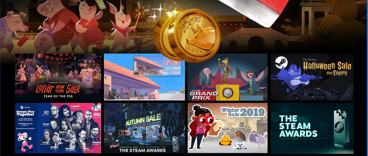 Steam proporcionó más de 20.000 millones de horas de juego en 2019