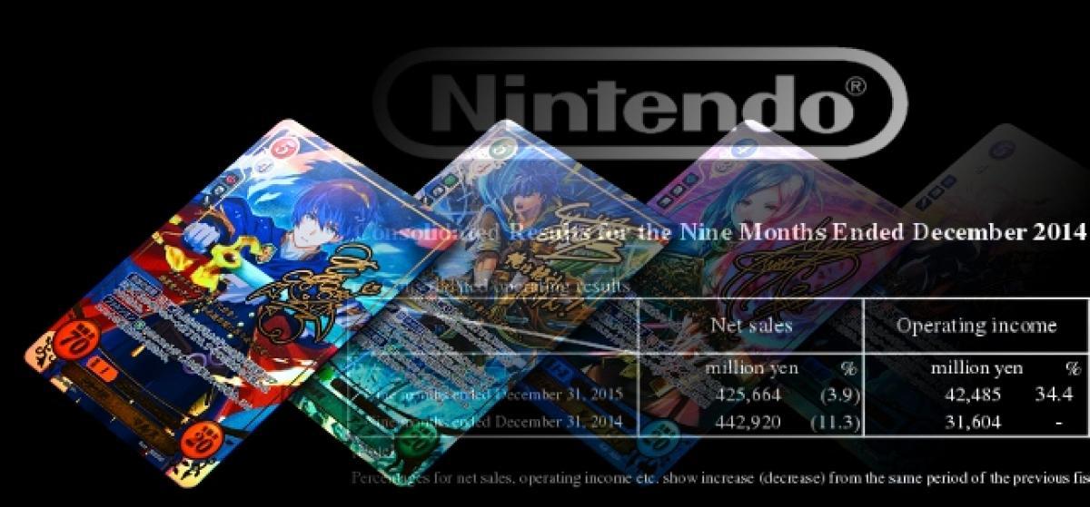Los beneficios de Nintendo caen un 30% en un año