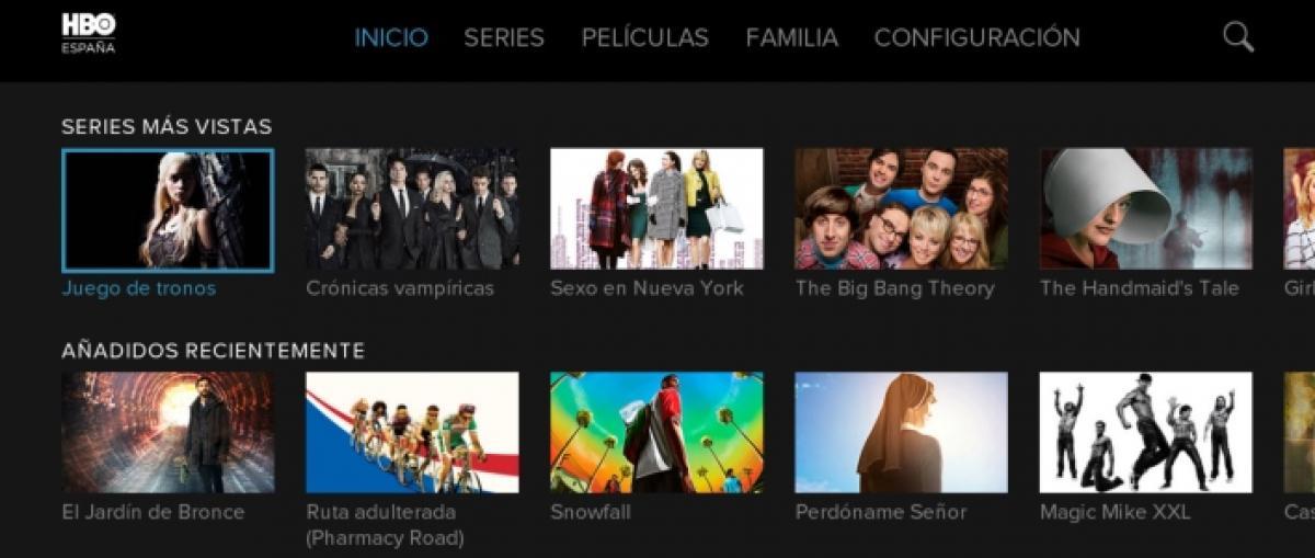 La aplicación de HBO España llega a PlayStation 4