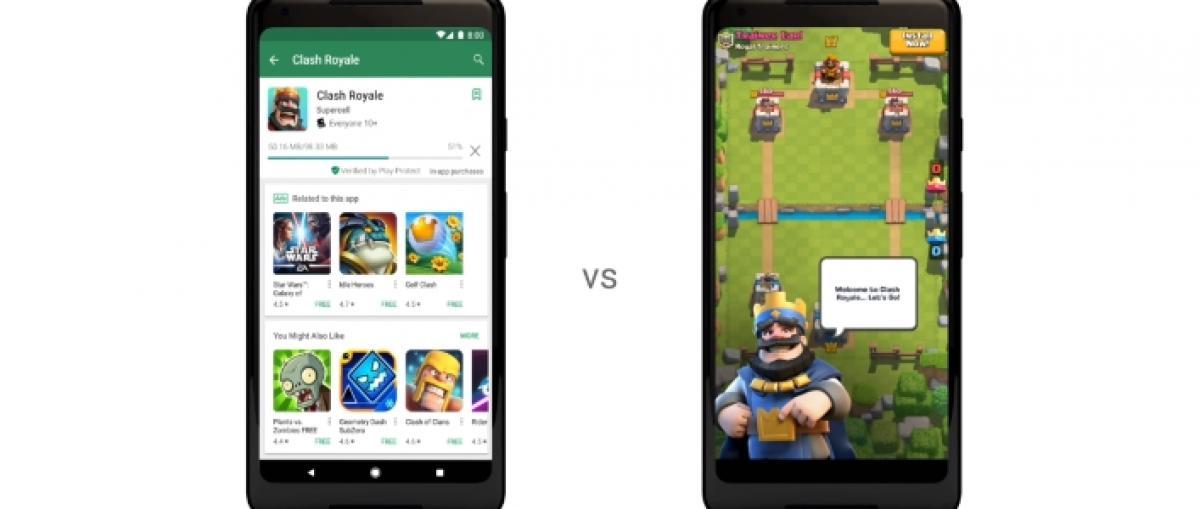 Google Play Instant permite probar los juegos para Android sin instalacion