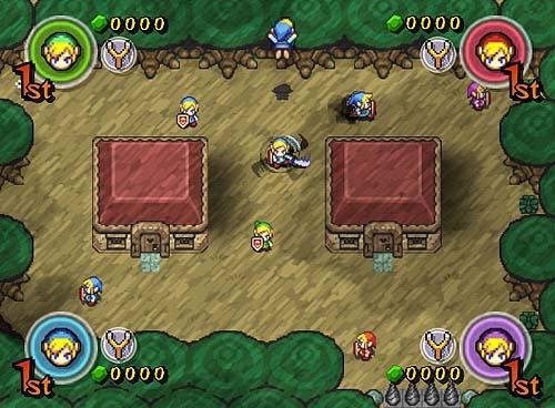 Zelda Four Swords Conectividad Gc Gba Esfumada