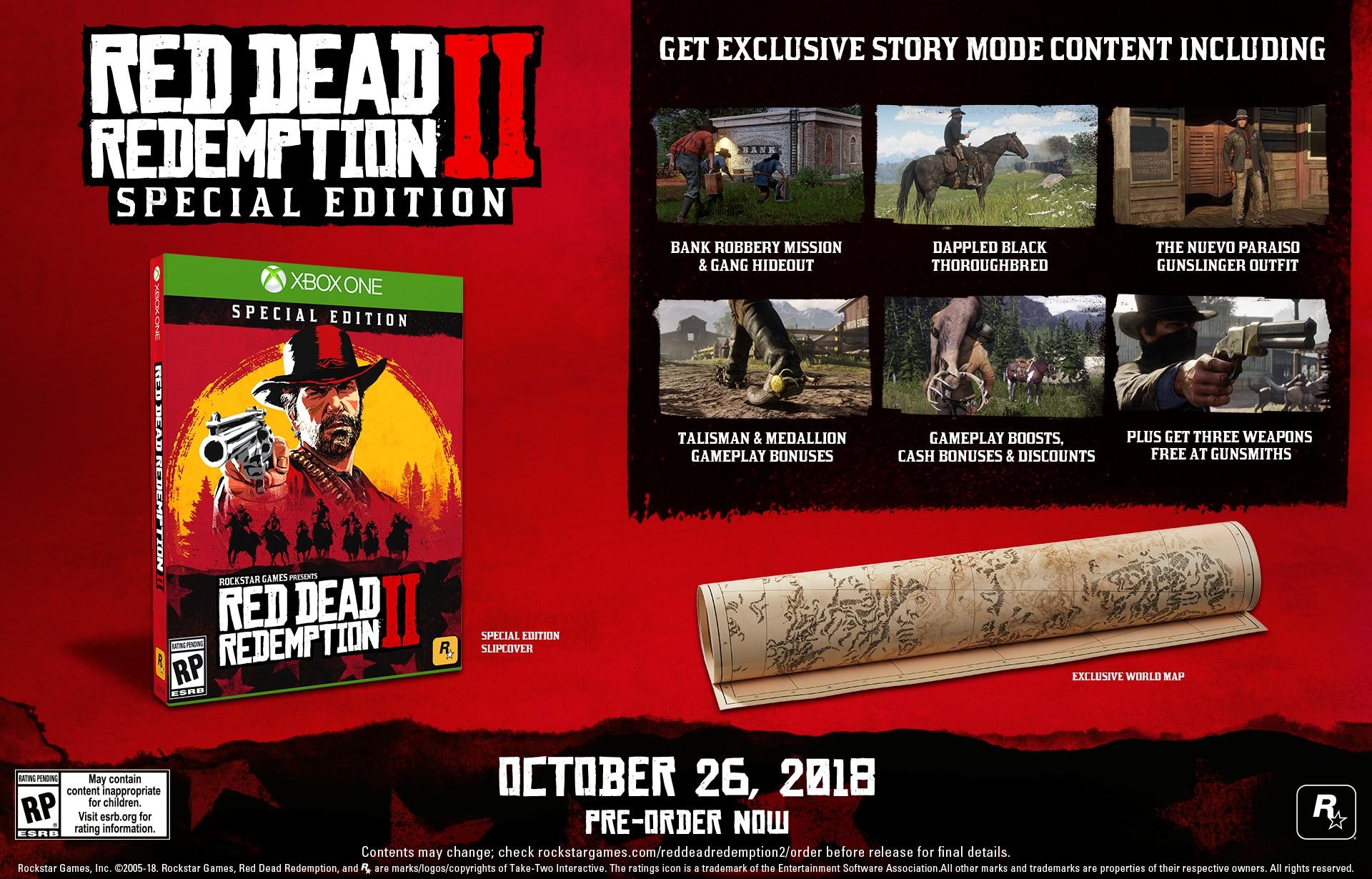 Anunciadas las ediciones especiales de Red Dead Redemption 2